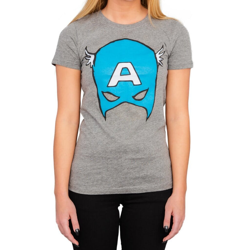 Captain America Big Blue A Mask T-Shirt-tvso