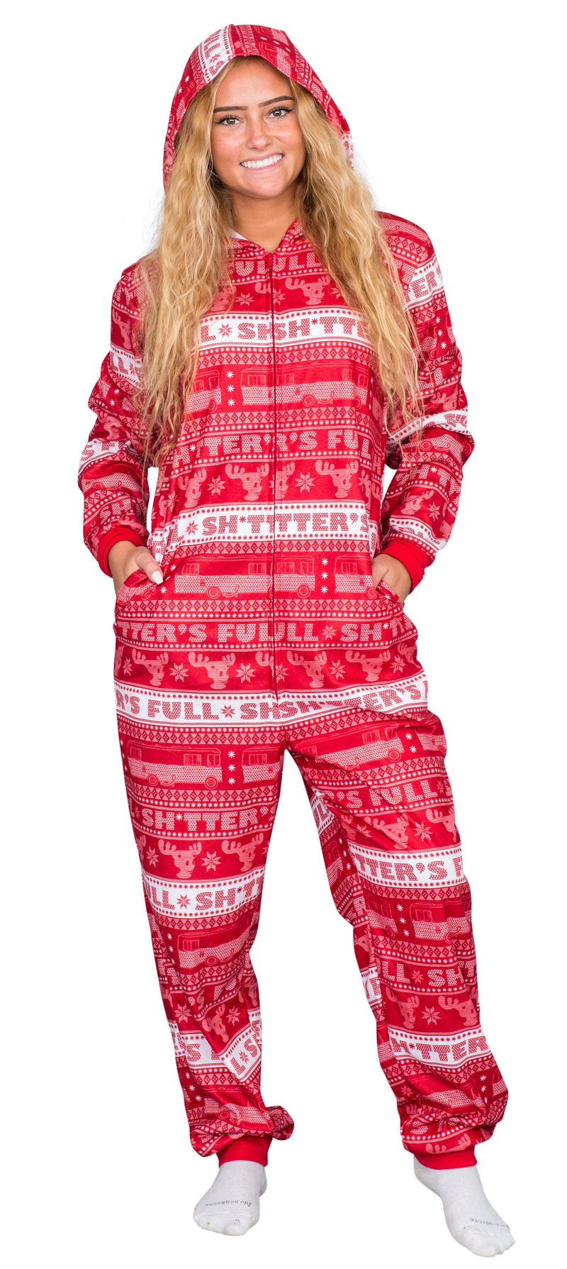 Christmas Vacation Shitter's Full Pajama Union Suit