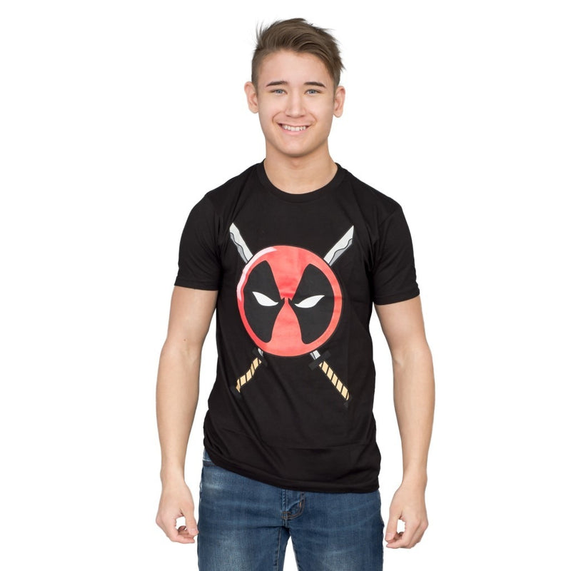 Deadpool Icon Logo and Swords T-shirt-tvso