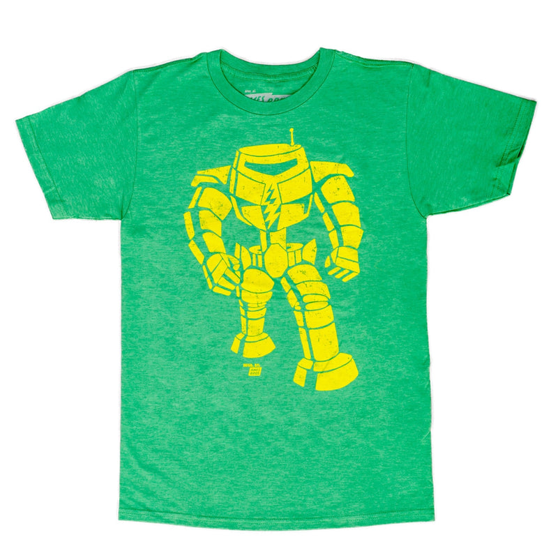 Man-Bot Vintage Graphic Green Adult T-shirt-tvso
