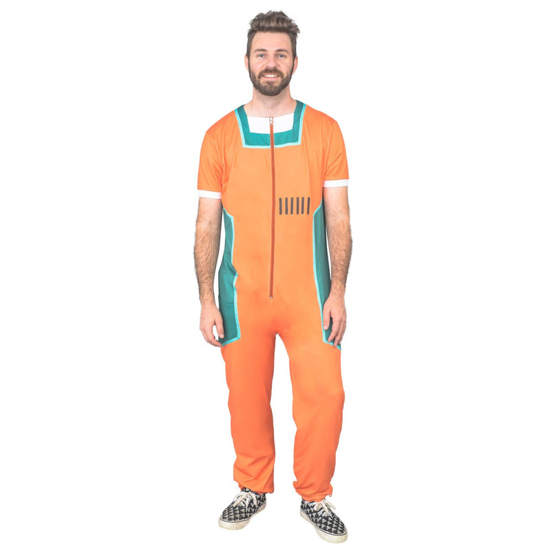 Prison Rick Halloween Costume Zip Up Pajamas Jumpsuit
