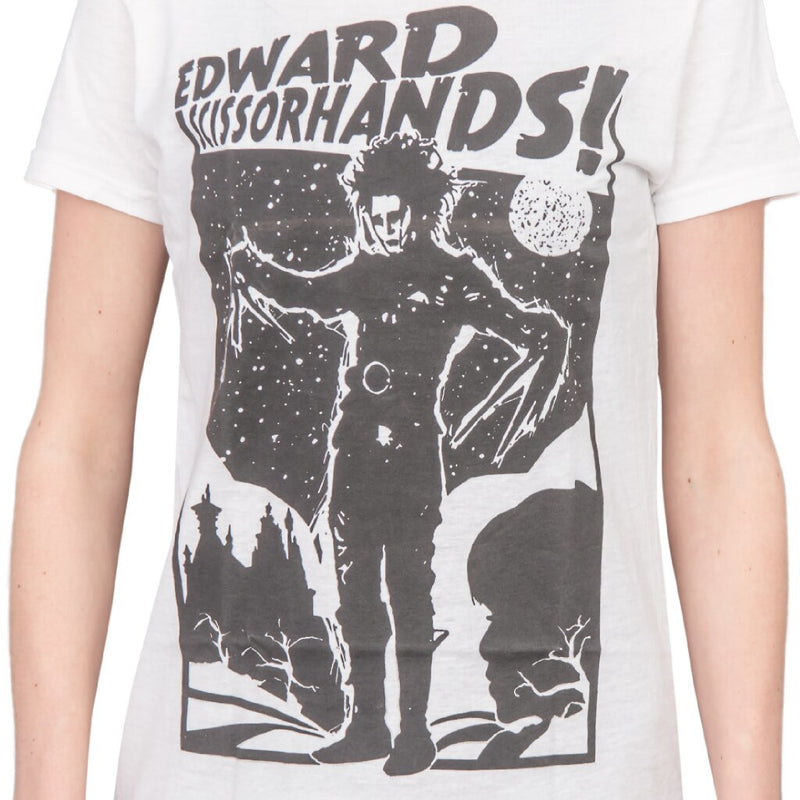 Edward Scissorhands Retro Poster Juniors Tee-tvso