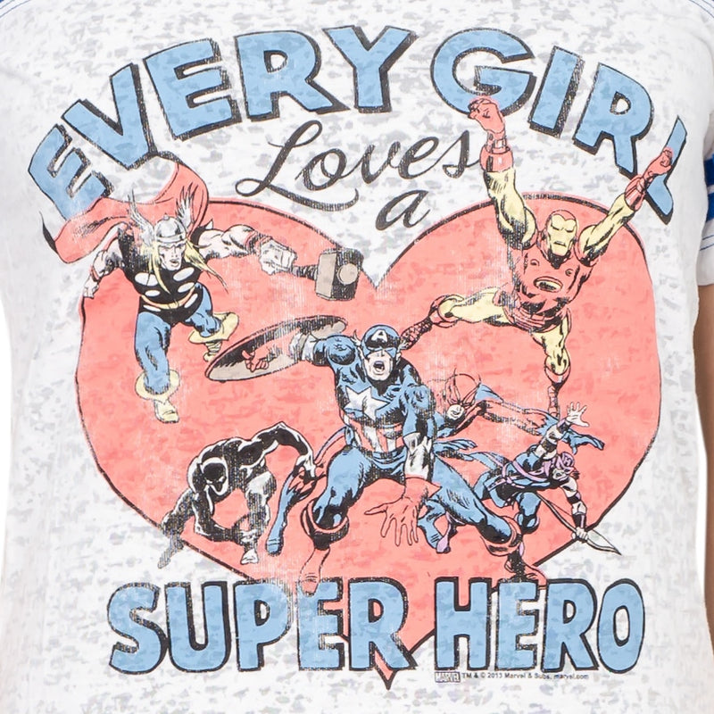 Every Girl Loves a Super Hero Juniors T-shirt-tvso