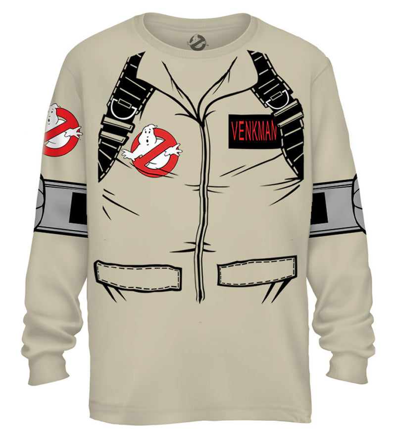 Venkman Long Sleeve Costume T-Shirt With Back Print