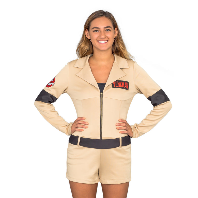 Ghostbusters Womens Sexy Costume with 4 Interchangeable Name Patches