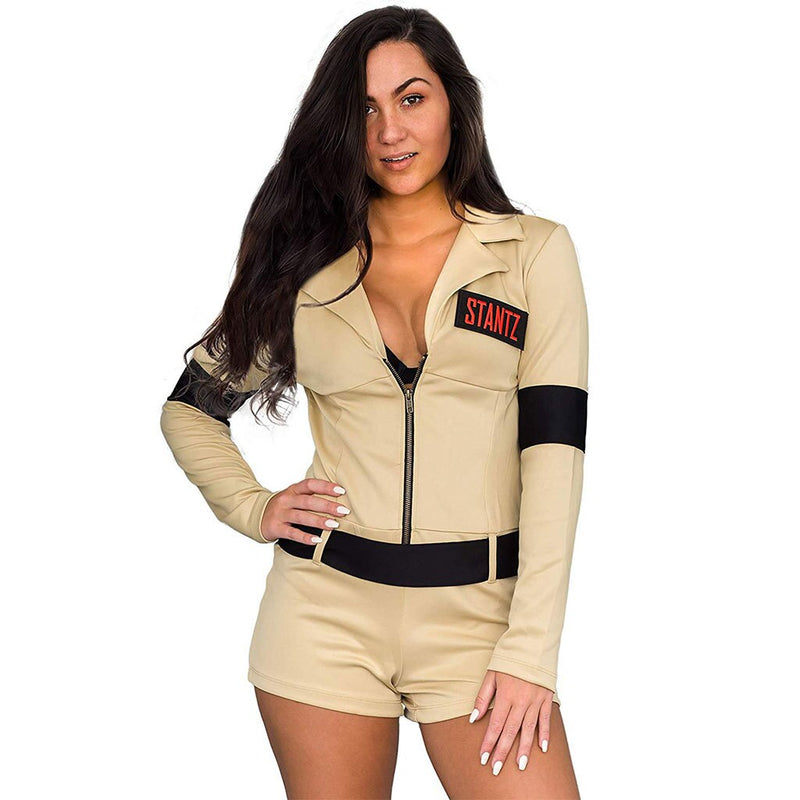 Ghostbusters Womens Sexy Costume with 4 Interchangeable Name Patches-tvso