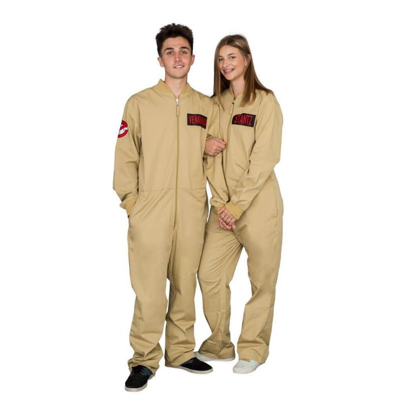 Ghostbusters Zip up Jumpsuit with 4 Attachable Patches-tvso