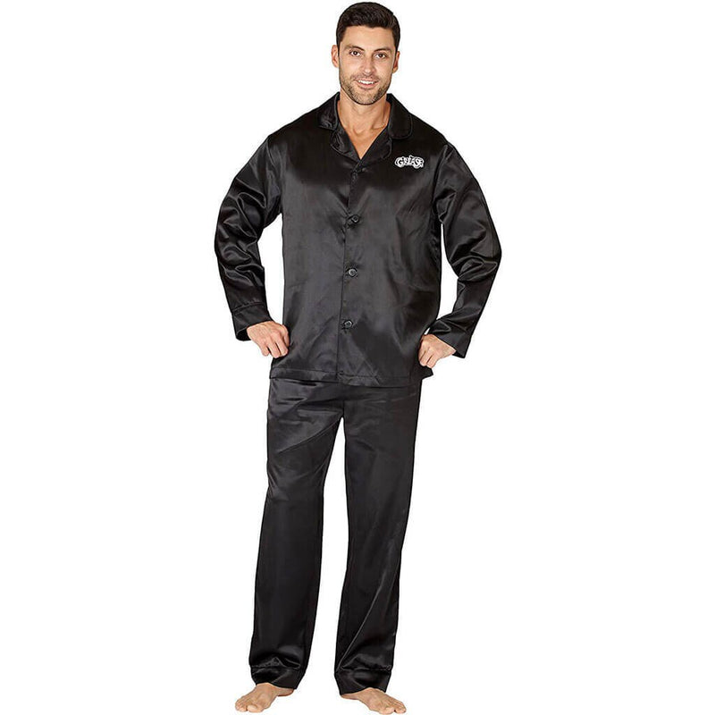 Grease Adult Black T Birds Pajama Set-tvso