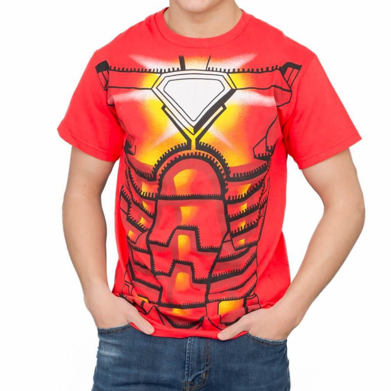 Iron Man Red Costume T-shirt-tvso
