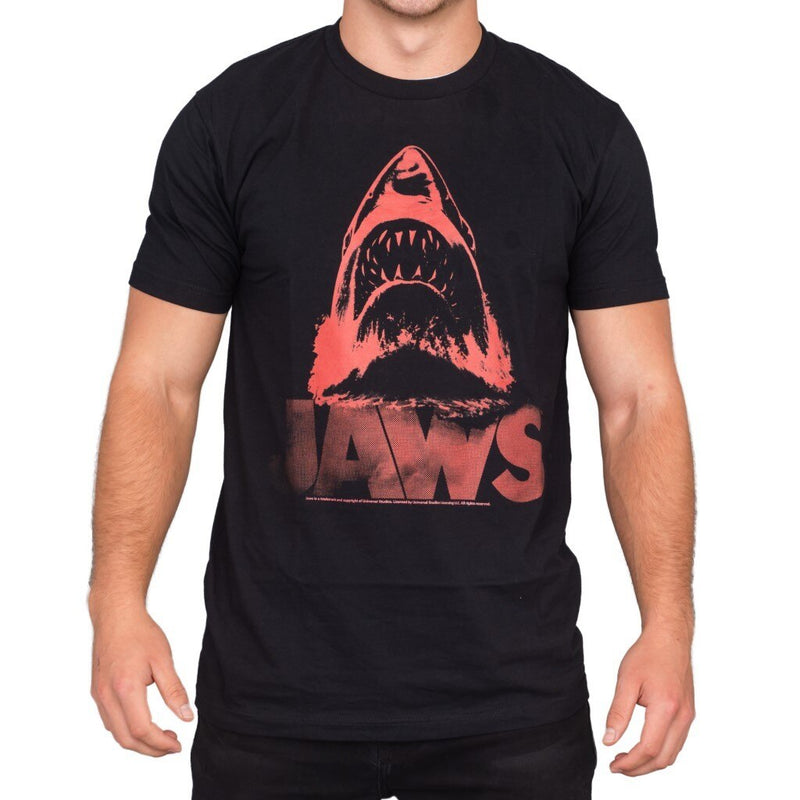 Jaws Red J Distressed T-shirt-tvso