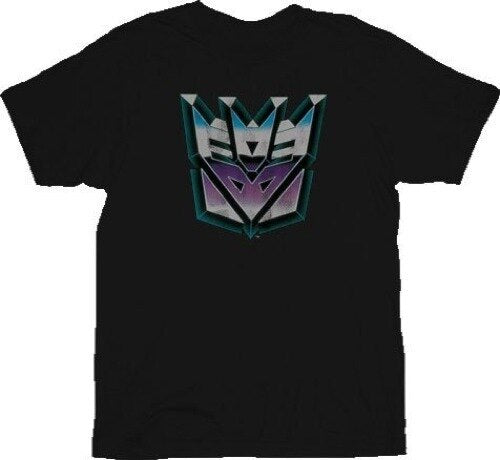 Transformers Evil Decepticon Distressed T-Shirt-tvso