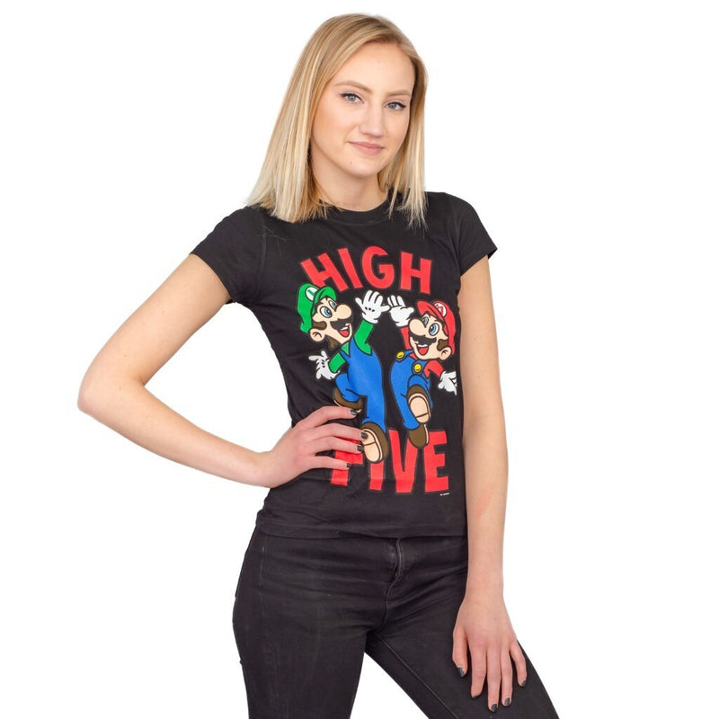 Mario & Luigi High Five Sheer T-shirt-tvso