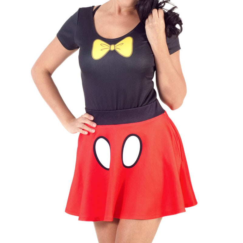 Minnie Mouse Bodysuit and Skirt Costume Set-tvso
