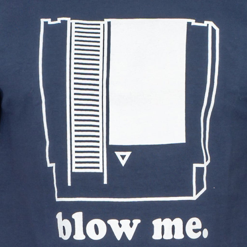 Nintendo Blow Me Navy Adult T-shirt-tvso