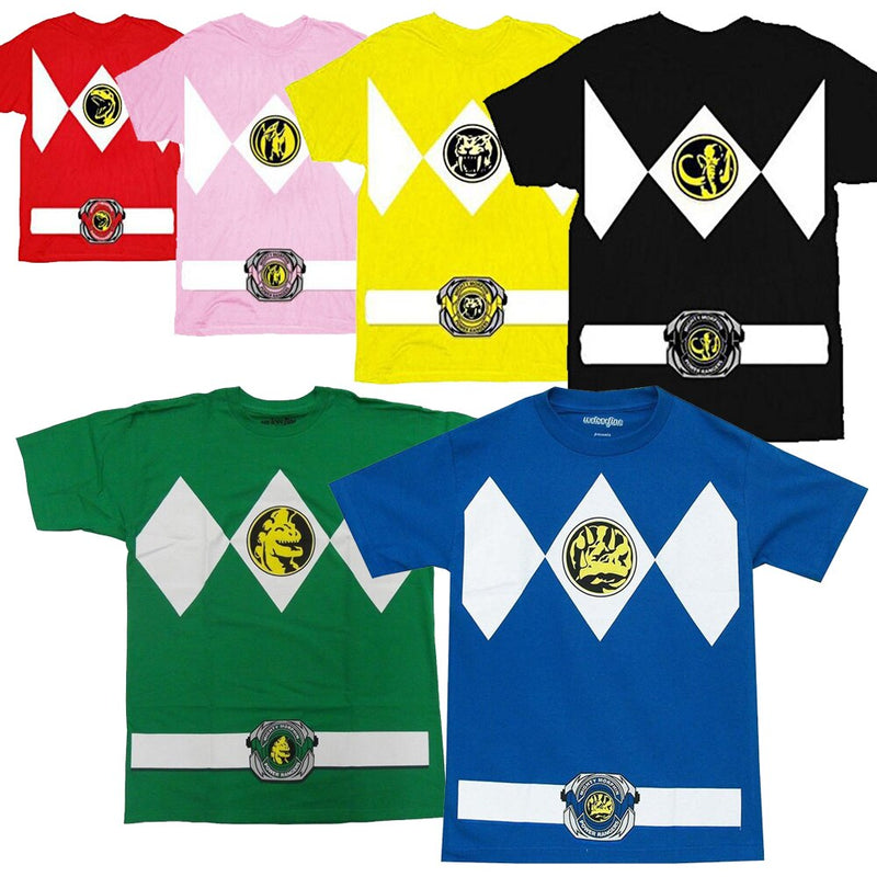 Power Rangers Costume Adult T-Shirt-tvso