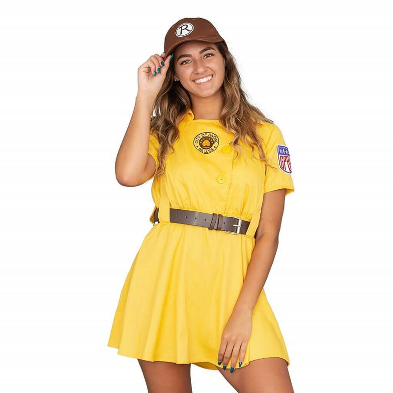 Racine Belles AAGPBL Baseball Womens Costume Dress-tvso