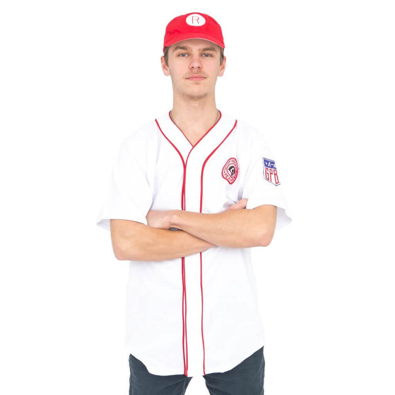 Rockford Peaches AAGPBL Baseball Mens Costume Jersey & Hat-tvso