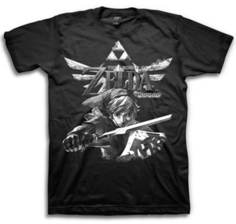 Skyward Sword Action Triforce T-shirt-tvso