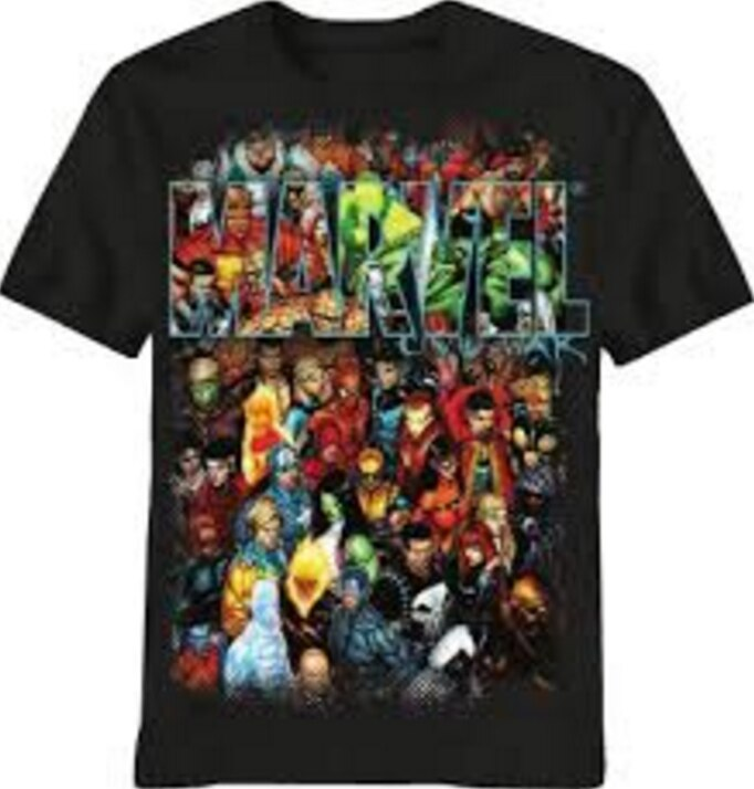 Marvel Group Shot Superheros T-shirt-tvso