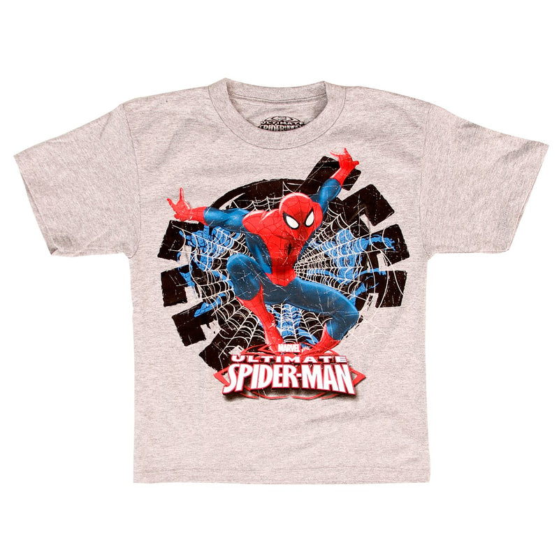 Ultimate Spider-Man Flying Hidden Glow in the Dark T-Shirt-tvso