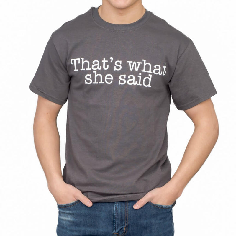 The Office That's What She Said Text T-shirt-tvso