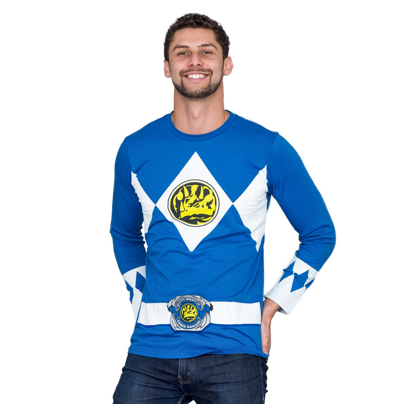 The Power Rangers Long Sleeve Costume T-shirt and Gloves-tvso