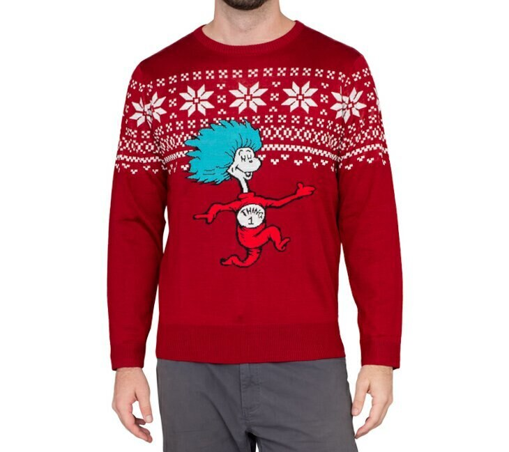 Thing 1 Is On The Run Ugly Christmas Sweater-tvso