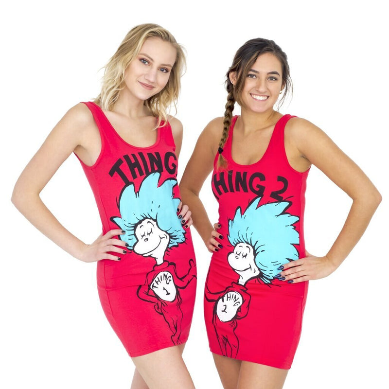 Thing 1 or Thing 2 Tunic Tank Dress-tvso