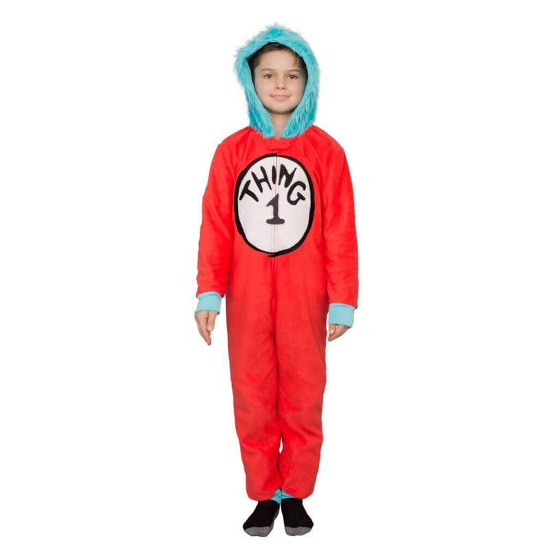 Thing 1 to 6 Interchangeable Patches Kids Union Suit-tvso