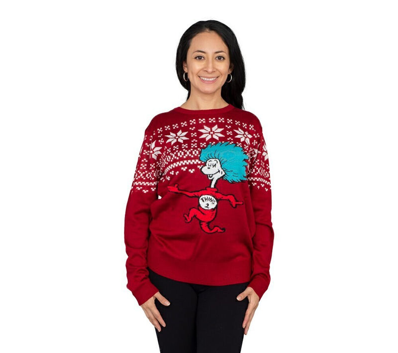 Thing 2 Is After You Ugly Christmas Sweater-tvso