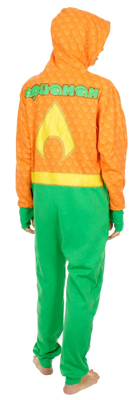 Aquaman Uniform Hooded One Piece Pajama-tvso