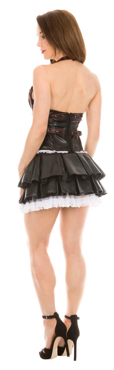 Harley Quinn Corset and Tutu Skirt Costume Set-tvso
