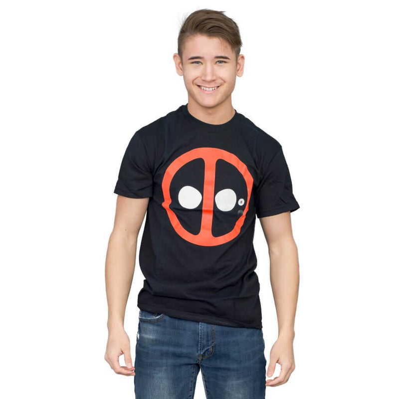 X-Men Deadpool Icon Black T-shirt-tvso