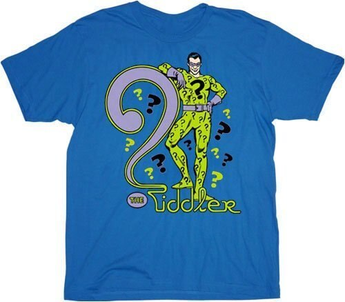 Batman The Riddler Blue T-shirt-tvso