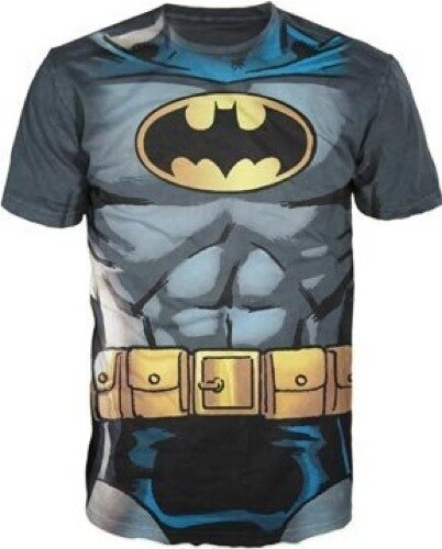 Batman Muscle Costume With Logo T-shirt-tvso