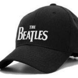 The Beatles White Logo Fitted Hat Cap-tvso