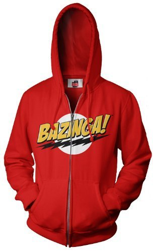 The Big Bang Theory Bazinga! Adult Zip Up Sweatshirt Hoodie-tvso