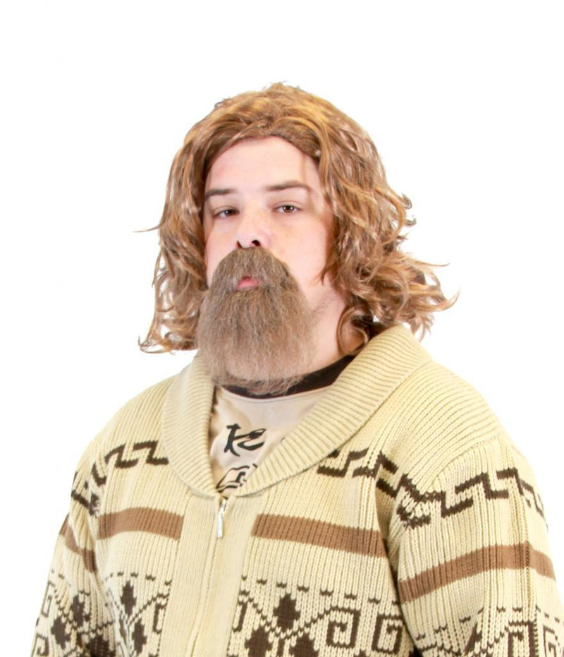 The Big Lebowski Wig & Goatee Costume Set-tvso