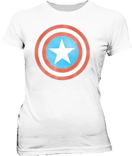Captain America Distressed Icon T-shirt-tvso