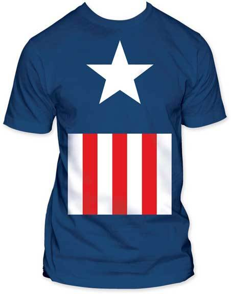 Captain America Suit Fitted Adult T-Shirt-tvso