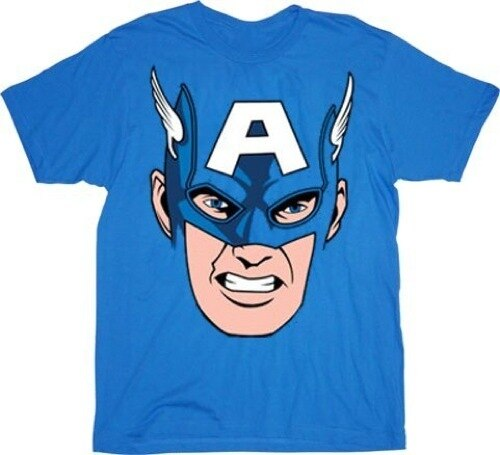 Captain America Cappy Face T-Shirt-tvso