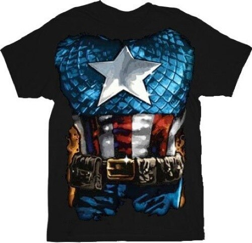 Captain America The American Way Costume T-shirt-tvso