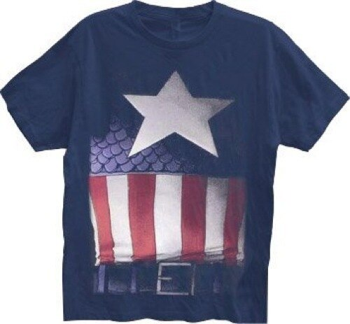 Captain America Faded Belt Print Costume T-shirt-tvso