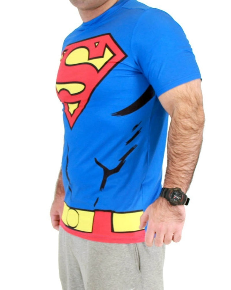 Superman Men's Performance Athletic Costume T-Shirt-tvso