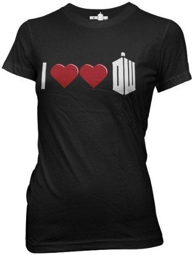 I Double Heart Dr. Who JuniorsT-Shirt-tvso