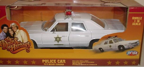 Roscoe's Sheriff Police Car 1:18 Scale Diecast Car-tvso
