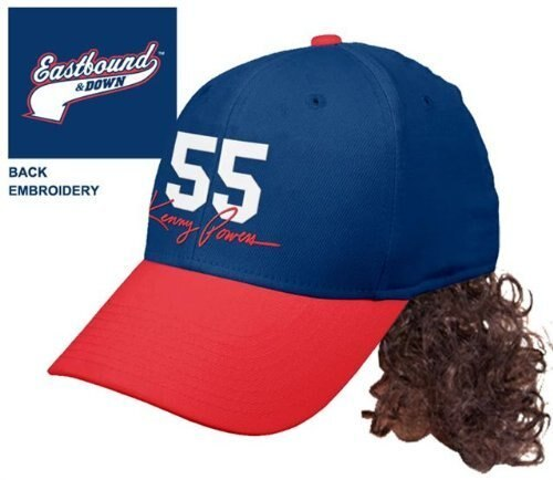 Kenny Powers 55 Baselball Cap Hat With Mullet Wig-tvso