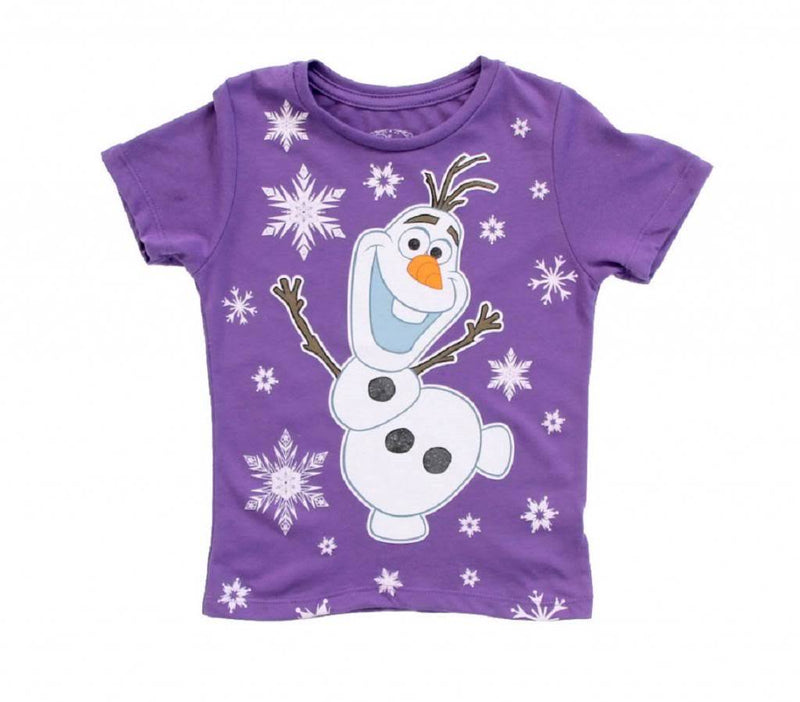 Snowing on Olaf Snowman Girls T-Shirt-tvso