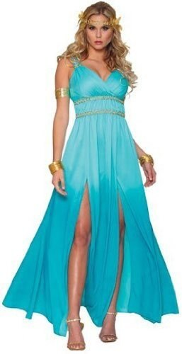Khaleesi Blue Warrior Princess Costume with Wig-tvso