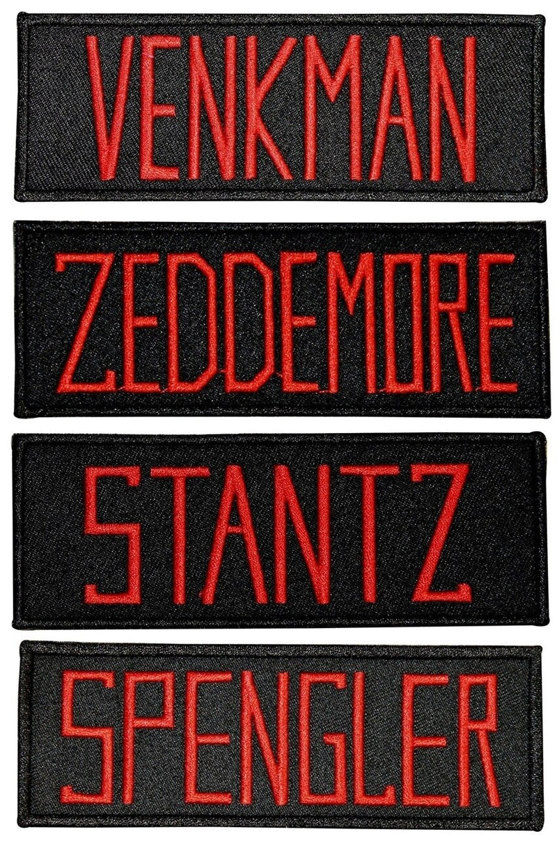 Ghostbusters (Set of 4) Name Tag Embroidered Patches-tvso